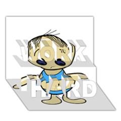 Cute Boy Work Hard 3d Greeting Card (7x5) by Valentinaart