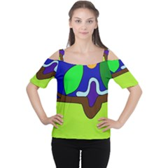 Caterpillar  Women s Cutout Shoulder Tee by Valentinaart