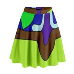 Caterpillar  High Waist Skirt by Valentinaart