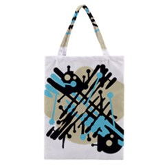 Abstract Decor   Blue Classic Tote Bag by Valentinaart