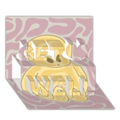 Cute Thing Get Well 3d Greeting Card (7x5)
