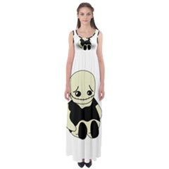 Halloween Sad Monster Empire Waist Maxi Dress by Valentinaart