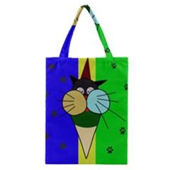 Ice Cream Cat Classic Tote Bag by Valentinaart