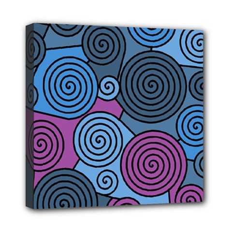 Blue Hypnoses Mini Canvas 8  X 8  by Valentinaart