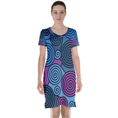 Blue Hypnoses Short Sleeve Nightdress