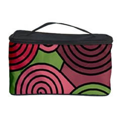 Red And Green Hypnoses Cosmetic Storage Case by Valentinaart