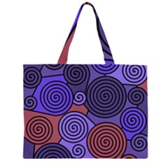 Blue And Red Hypnoses  Zipper Large Tote Bag by Valentinaart