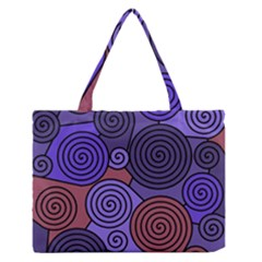 Blue And Red Hypnoses  Medium Zipper Tote Bag by Valentinaart