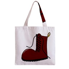 Boot Zipper Grocery Tote Bag by Valentinaart