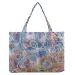 Spirals Medium Zipper Tote Bag by Cveti