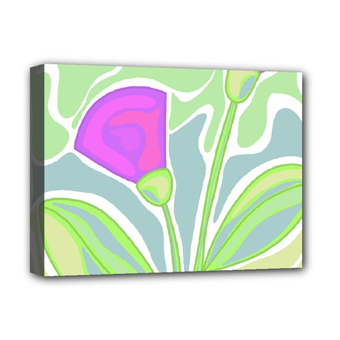 Purple Flowers Deluxe Canvas 16  X 12   by Valentinaart