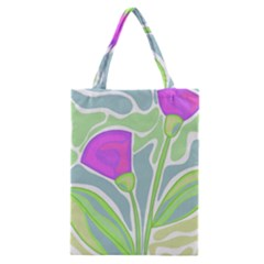 Purple Flowers Classic Tote Bag by Valentinaart