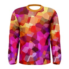 Geometric Fall Pattern Men s Long Sleeve Tee by DanaeStudio