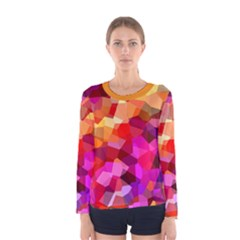 Geometric Fall Pattern Women s Long Sleeve Tee by DanaeStudio