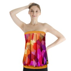 Geometric Fall Pattern Strapless Top by DanaeStudio