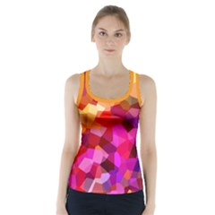 Geometric Fall Pattern Racer Back Sports Top by DanaeStudio