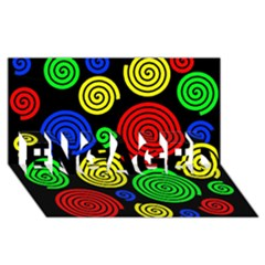 Colorful Hypnoses Engaged 3d Greeting Card (8x4) by Valentinaart