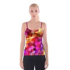 Geometric Fall Pattern Spaghetti Strap Top by DanaeStudio