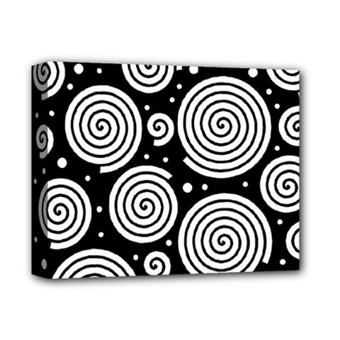 Black And White Hypnoses Deluxe Canvas 14  X 11  by Valentinaart