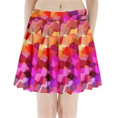 Geometric Fall Pattern Pleated Mini Skirt by DanaeStudio