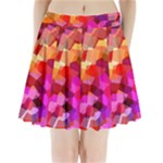 Geometric Fall Pattern Pleated Mini Skirt