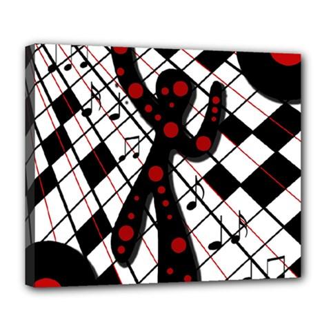 On The Dance Floor  Deluxe Canvas 24  X 20   by Valentinaart