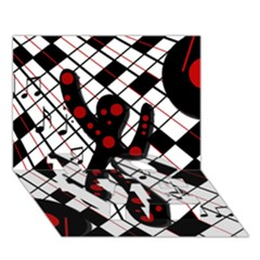 On The Dance Floor  Love Bottom 3d Greeting Card (7x5)