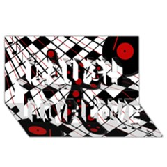 On The Dance Floor  Laugh Live Love 3d Greeting Card (8x4) by Valentinaart
