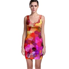 Geometric Fall Pattern Bodycon Dress by DanaeStudio
