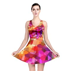 Geometric Fall Pattern Reversible Skater Dress by DanaeStudio