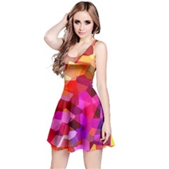 Geometric Fall Pattern Reversible Sleeveless Dress by DanaeStudio