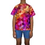 Geometric Fall Pattern Kid s Short Sleeve Swimwear