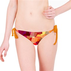 Geometric Fall Pattern Bikini Bottom by DanaeStudio