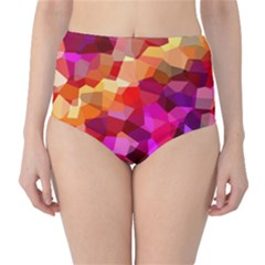 Geometric Fall Pattern High Waist Bikini Bottoms by DanaeStudio