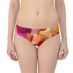 Geometric Fall Pattern Hipster Bikini Bottoms by DanaeStudio