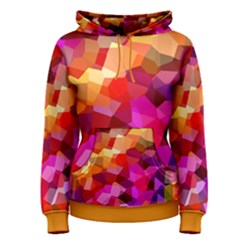 Geometric Fall Pattern Women s Pullover Hoodie by DanaeStudio