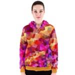 Geometric Fall Pattern Women s Zipper Hoodie