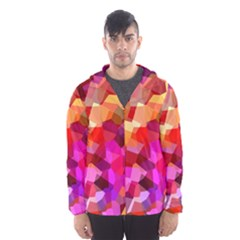 Geometric Fall Pattern Hooded Wind Breaker (men) by DanaeStudio