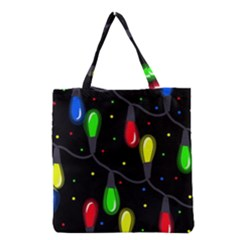 Christmas light Grocery Tote Bag by Valentinaart
