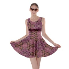Fuchsia Abstract Shell Pattern Skater Dress