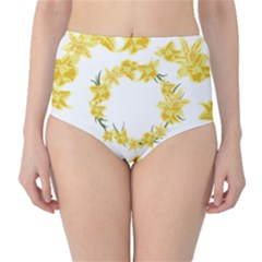 Daffodils Illustration  High-Waist Bikini Bottoms by vanessagf