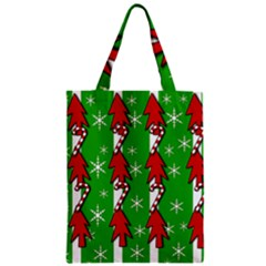 Christmas Pattern   Green Zipper Classic Tote Bag by Valentinaart