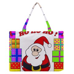 Santa Claus Pattern   Transparent Medium Zipper Tote Bag
