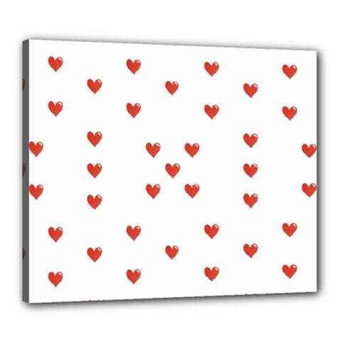 Cute Hearts Motif Pattern Canvas 24  X 20  by dflcprints