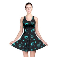 Pots Mermaid Print Reversible Skater Dress by AwareWithFlair