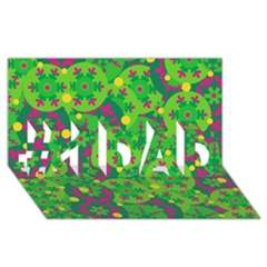 Christmas Decor   Green #1 Dad 3d Greeting Card (8x4) by Valentinaart