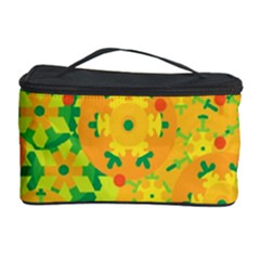 Christmas decor - yellow Cosmetic Storage Case by Valentinaart