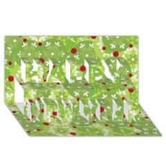 Green Christmas Decor Happy New Year 3d Greeting Card (8x4) by Valentinaart
