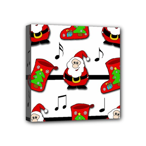 Christmas Song Mini Canvas 4  X 4  by Valentinaart