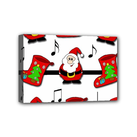 Christmas Song Mini Canvas 6  X 4  by Valentinaart